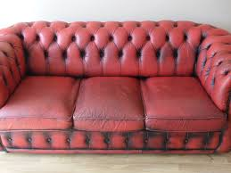used red leather sofa 3 seater chesterfield red leather sofa www mygreendaddy com