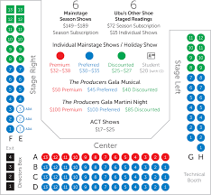 house of reps seating plan seating chart san luis obispo repertory theatre