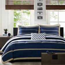 Blue Striped Comforter Set Garrett Comforter Set