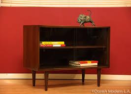 Mid Century Modern Bookcase Mid Century Modern Walnut U0026 Glass Bookcase U2013 Danish Modern L A