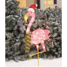 pink flamingo patio lights holiday time christmas decor 32 flamingo clear light sculpture