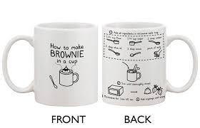 amazon com cute ceramic coffee mug how to make brownie in a cup