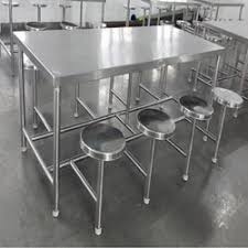 stainless steel table and chairs stainless steel canteen dining table satya lakshmi engineering