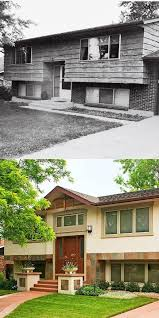level house split level homes before and after before after there is
