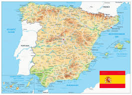 physical map of spain spain physical map by cartarium graphicriver