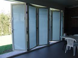 china thermal break aluminum built in shutter folding doors