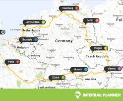 Europe Train Map by Interrail Planner
