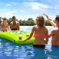 Pool Beer Pong Table by Bigmouth Inc Inflatable Pool Party Pong Beer Pong Game