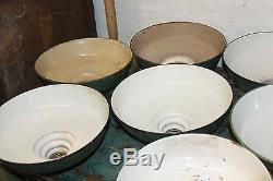antique gas station lights for sale 8 antique vtg industrial green porcelain l light shades pole barn