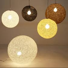 Multi Globe Pendant Light Multi Color Optional Hemp Globe Pendant L Dinning Room Light