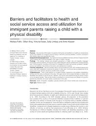 barriers and facilitators to health care and service access and