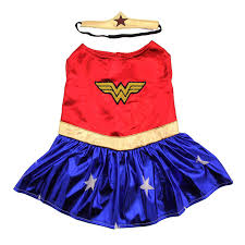 dog halloween costumes images wonder woman dog halloween costume with same day shipping baxterboo
