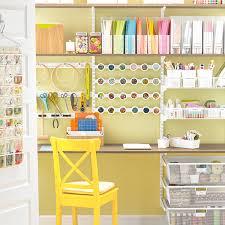 Closet Craft Room - coffee u0026 white elfa craft closet the container store