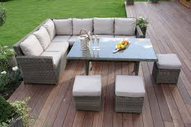 Outdoor Rattan Corner Sofa Pleasing Corner Sofa Dining Set Rattan For Your Budget Home