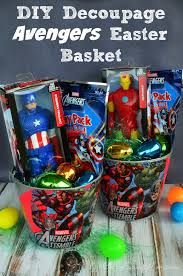 easter basket boy decoupage diy easter basket disneyeaster oh so savvy