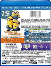 amazon minions blu ray 3d blu ray dvd digital hd