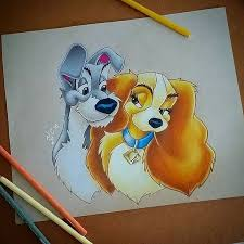 lady u0026 tramp drawing by nadzer art instagram ladyandthetramp