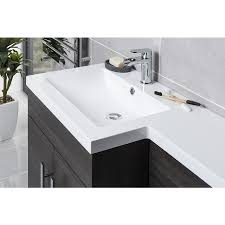 Combination Vanity Units For Bathrooms by Calm Grey Right Hand Combination Vanity Unit Set With Toilet