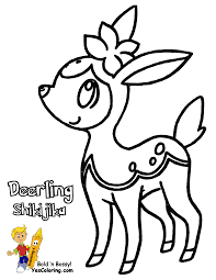 Pokemon Deerling Coloring Pages