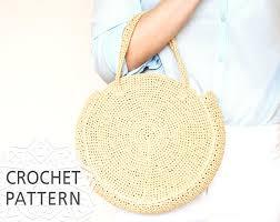 crochet bag pattern raffia bag round bag crochet bag