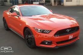 cost of ford mustang ford mustang gt spotted in india top end price of supercar rs 65