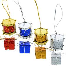 bulk house mini drum gift box ornaments 12 ct packs at