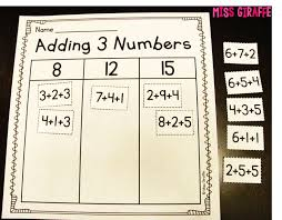 114 best adding 3 numbers images on pinterest math activities