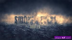 smoke reveal trailer after effects project videohive free