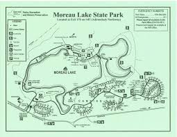 State Park Map by Park Maps Friends Of Moreau State Park
