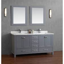 cheap double sink bathroom vanities buy vincent 72 inch solid wood double bathroom vanity in charcoal
