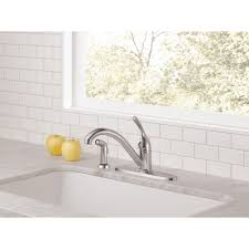 Pacific Kitchen Staten Island 100 Delta Classic Single Handle Kitchen Faucet White