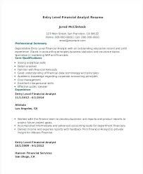 financial data analyst resume financial analyst resume sle
