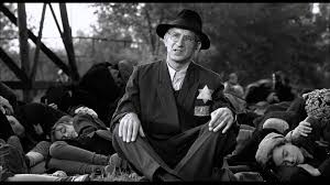 Black And White Drama by Actor Ben Kingsley In A Scene From Holocaust Drama Schindler U0027s
