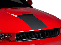 Matte Black 2005 Mustang American Muscle Graphics Mustang Matte Black Hood Stripe 26262 05