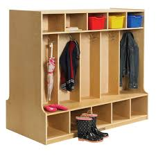 Cubby Storage Bench by Ecr4kids Double Sided Birch 10 Section Coat Locker With Bench
