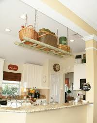 clever storage ideas for small kitchens diy ladder shelf kitchen suspended ceiling storage small kitchen