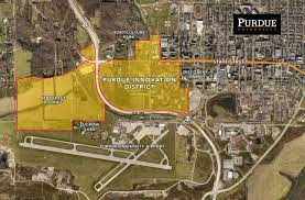 Indiana State University Campus Map by Purdue Browning Partner On 1 Billion Development District To