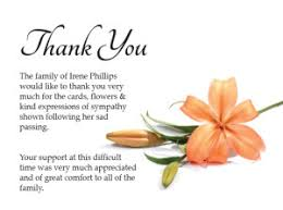 funeral thank you notes thank you notes