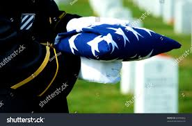 Fold Flag Military Style Honor Guard Holding Folded American Flag Stock Photo 64343965
