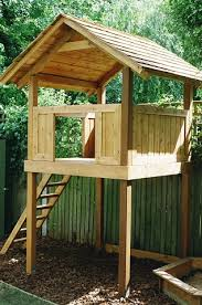 Tree House Backyard by Western Red Cedar Play House With Ladder And Play Bark Outside