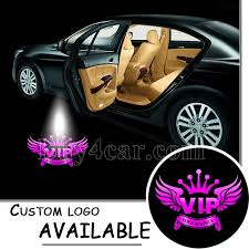 Light Pink Car Welcome Logo Light Vip Pink Car Auto Step Ground Puddle Laser