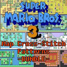 Super Mario Bros 3 Maps Super Mario Bros 3 All Worlds Maps Cross Stitch Pattern