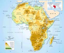 mapa de africa relieve y clima de áfrica mapas y fotos de áfrica