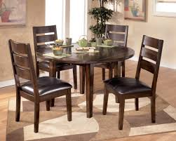 modern home interior design round mahogany dining room table