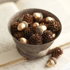 Pier 1 Home Decor Pinecone U0026 Acorn Table Scatter Pier 1 Imports Holiday Decor