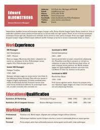 Resume Microsoft Template Blue Side Free Resume Template By Hloom Com Arte Pinterest