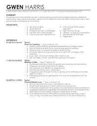 restaurant resume templates restaurant resumes cocktail waitress cover letter waiter skills