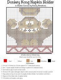 plastic canvas thanksgiving patterns donkey kong napkin holder plastic canvas pattern everyday parties