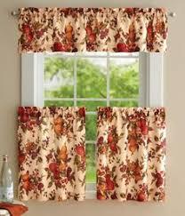 Fall Kitchen Curtains Autumn Kitchen Curtains Rapflava