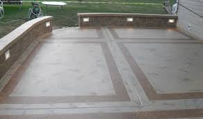 Patio Concrete Stain Ideas by Patio U0026 Pergola Cool Concrete Backyard Ideas Cool Creating